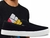 KIT TÊNIS SLIP ON + CAMISETA PREMIUM PUNHO GOLA C BLACK FREE