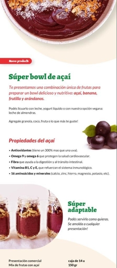 Bowl de Açai Pack Familiar 14 Unidades en internet