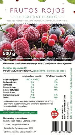MIX DE FRUTOS ROJOS 500 GR