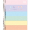 Caderno Colegial Happy Colors Tilibra