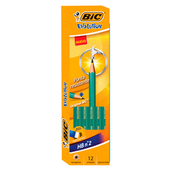 Bic Evolution Pack x12 lápices grafito