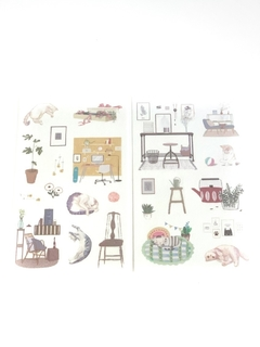 Kit cartelas de adesivos - Cosy Home - Cactus Home