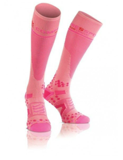 Meia de Compressão Full Sock  - Compressport - Rosa
