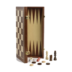 AJEDREZ BACKGAMMON FICHAS 87MM - Estate Pipes Buenos Aires