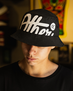 BUCKET HAT OTHER CULTURE BIGGER LOGO BLACK - OC1026