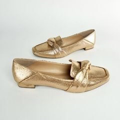Sapatilha Loafer Nó Metalizatto Bronze - comprar online
