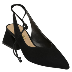 Scarpin Delotto Lace-up Couro Nobuck Preto na internet