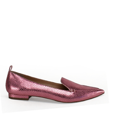 Sapatilha Delotto Loafer Snake Metal Rosa Claro na internet
