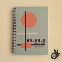 Agenda Bauhaus Tapa Dura Ring Wire/ Modelo 6: ORANGE CIRCLE