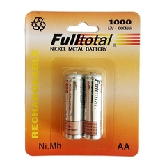 2 Pilas Aa 1000 Mah Full Total P/ Estacas Solares Faroles Remotos