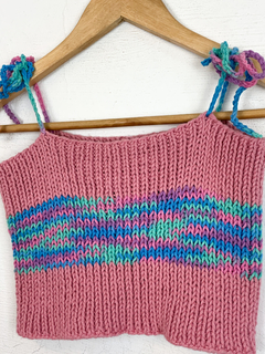 Cropped Tricot Rosa (P/M) - comprar online