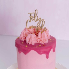 Mini Feliz Cumple Manuscrito Cake Topper