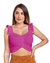 Top Cropped Tricot Vanessa Modal Babados Harmonia Tricô Pink
