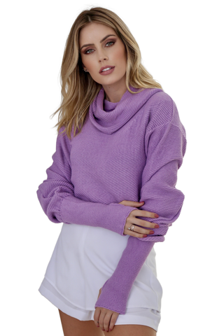 Tricot cropped oversize VIOLETA