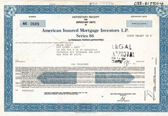 American Insured Mortgage Investors L.P Series 86