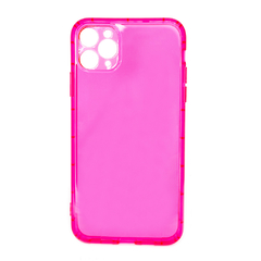 CAPINHA IPHONE 11 PRO MAX - SILICONE NEON ROSA