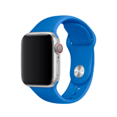 PULSEIRA APPLE WATCH 42/44MM - SILICONE AZUL