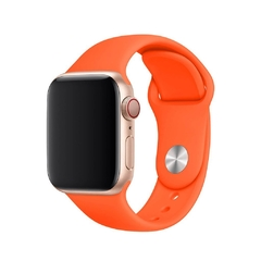 PULSEIRA APPLE WATCH 42/44MM - SILICONE LARANJA