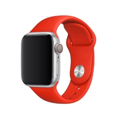 PULSEIRA APPLE WATCH 42/44MM - SILICONE VERMELHA