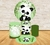Kit Mini Table Ursinho Panda Fundo Verde Bambu
