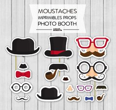 KIT IMPRIMIBLE MOUSTACHES - comprar online