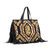 Milano Tote Bag in Black and Sand color chaguar - buy online