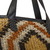 Image of Milano Tote Bag in Black and Sand color chaguar