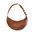Light Brown Banana Handbag with handmade strip in metal and onix stone (copia) on internet