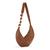 Light Brown Banana Handbag with handmade strip in metal and onix stone (copia)