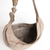 Banana Nude Handbag with handmade strip in metal and onix stone - Santesteban