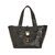 Eastwood small Black bag in Yacare