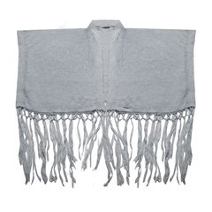 CLAVEL HANDMADE RUANA WITH FRINGES CODE 2906