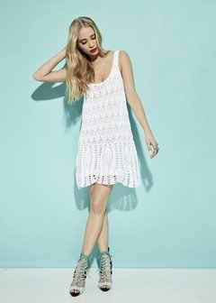 VESTIDO CORTO CROCHET PARTY ART 2213 en internet