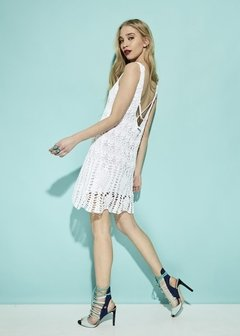 VESTIDO CORTO CROCHET PARTY ART 2213 - buy online