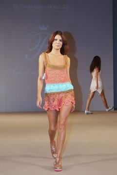 "Short Hand Made Beachwear Art 1620C , que se vio en el Desfile de""AB""! on internet"
