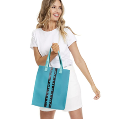 QUITO-SHOPPING BAG EFECTO SILICONADO Y LOGO EN FRENTE (CJU10889) - MAGALI SHOES