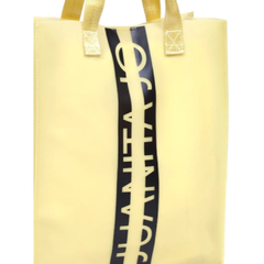 QUITO-SHOPPING BAG EFECTO SILICONADO Y LOGO EN FRENTE (CJU10889)