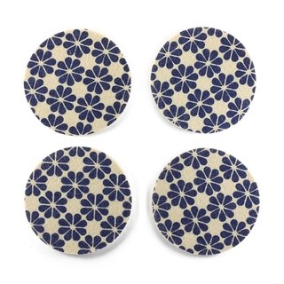 Coasters Flower Blue