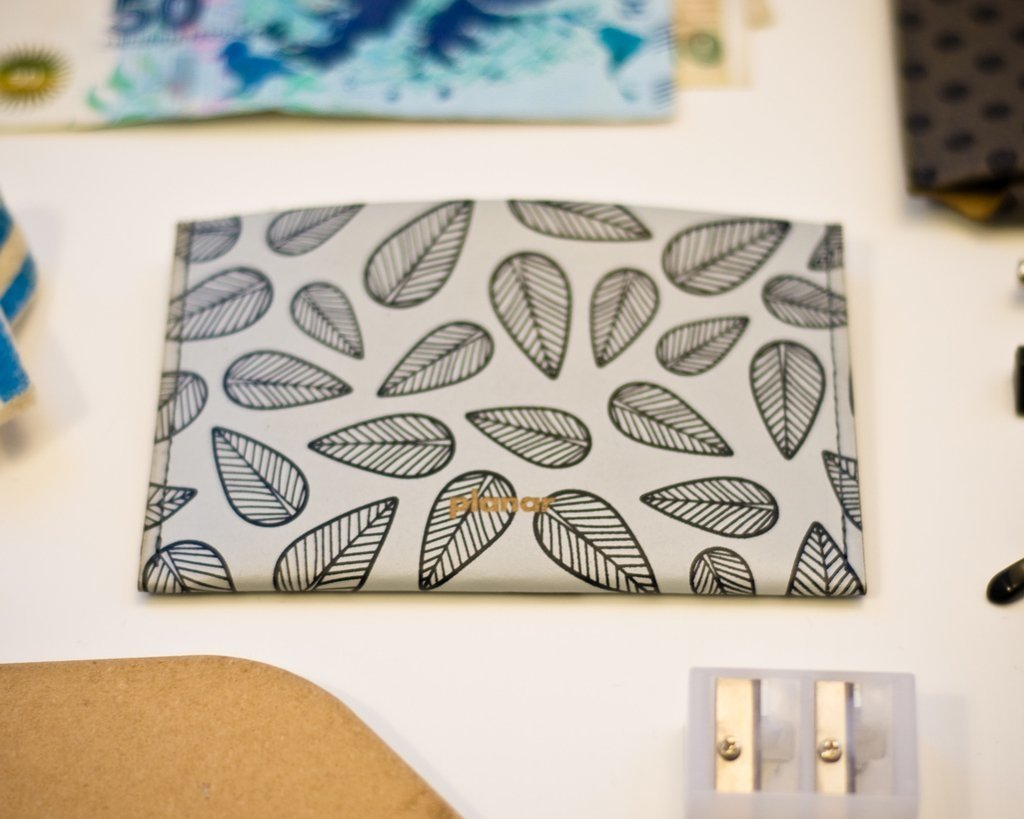 Envelope #2 Leaves Grey