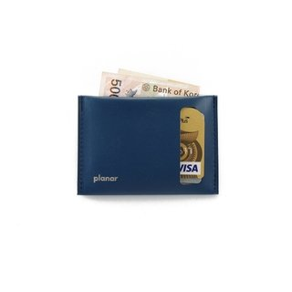 S Wallet Solid Blue
