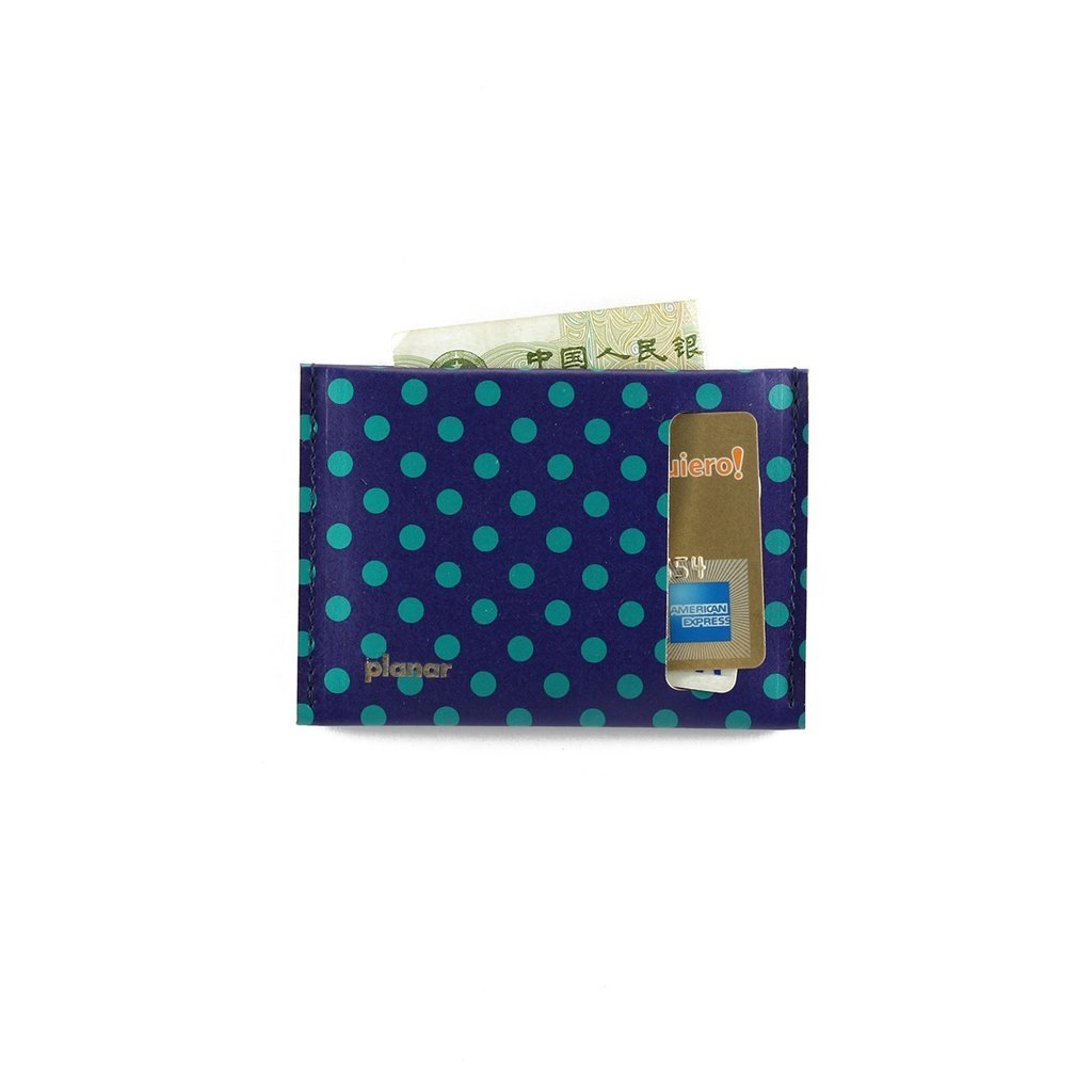 S Wallet Dots Green