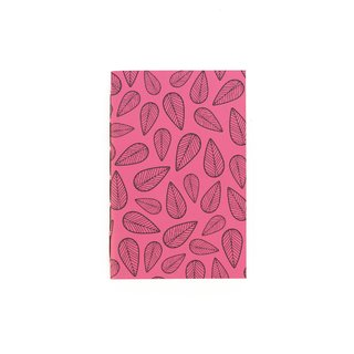 A6 Notebook Leaves Pink