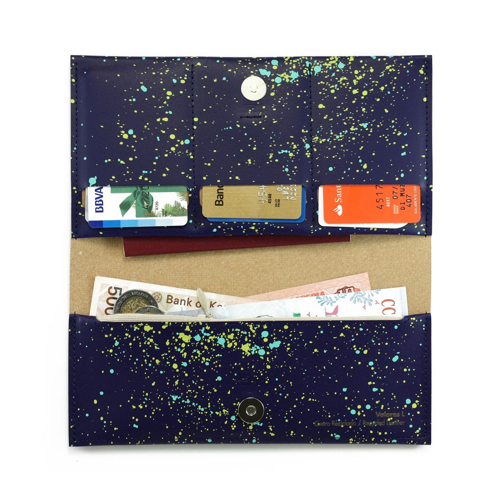 L Wallet Cosmos Blue