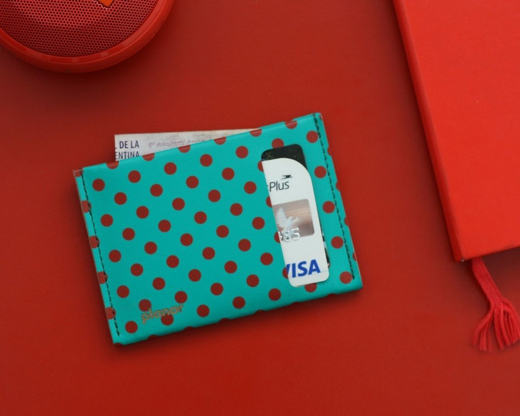 S Wallet Dots Red