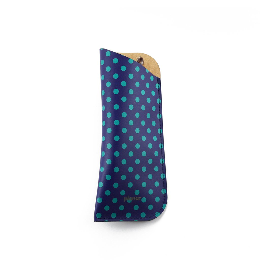 Glasses Sleeve Dots Green