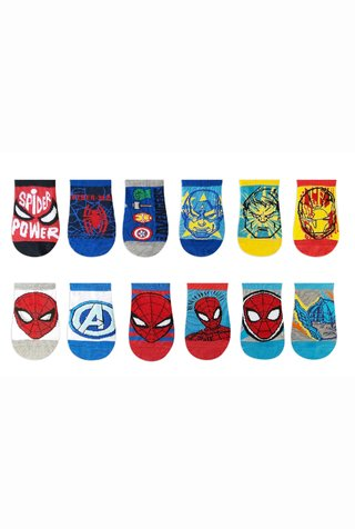 Medias Pack x12 Soquete Marvel® Avengers/Spiderman
