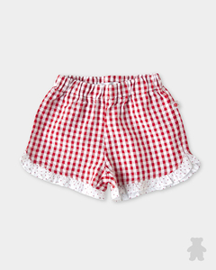 6036007	SHORT CLOQUE ROJO