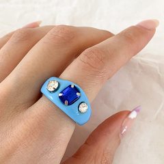 Anillo Get It Right - azul - comprar online