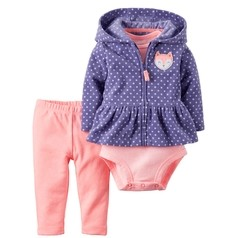 Carter's - Set x3 campera polar lunares en internet