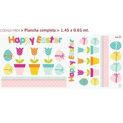 Happy Easter - Vinilo Decorativo Pascuas - comprar online
